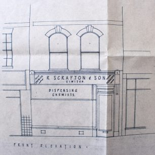Architects drawing of elevation in 1969 | From FDC Planning Files