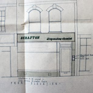 Architects drawing of proposed elevation in 1969 | From FDC Planning Files