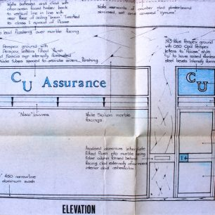 Architects proposed drawings, 14-15 High St, 1970   from Fenland District Councils planning files