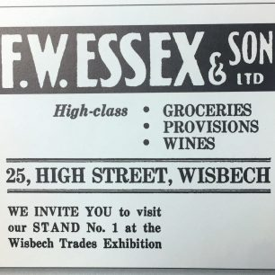 Advert for F W Essex, 1953