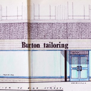 Architects drawing of proposed elevation c1970 | from FDC planning files