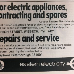 Eastern Electricity Advert 1978-9 | Veals Directory 1978-9