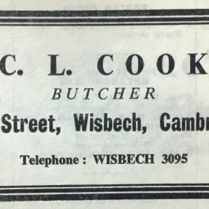 Advert for Cooks Butchers, 1969 | Eastern Counties Trade Directory 1969