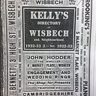 Advert from Kellys Directory. 1933 for P Bennett | Kellys Directory, 1933