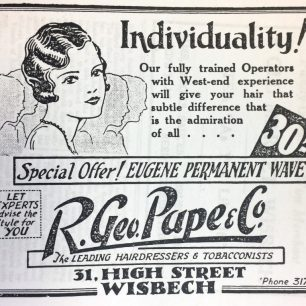 Pape Hairdressers Ad, 1933 | Kellys Directory, 1933