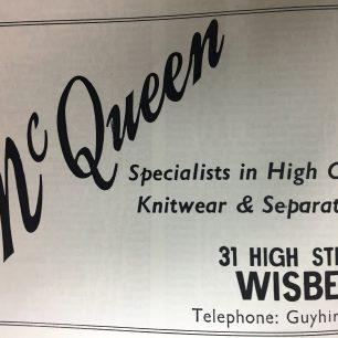 McQueen Advert, 1978-9 | Veals Directory, 1978-79