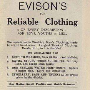 Evisons Ad, undated