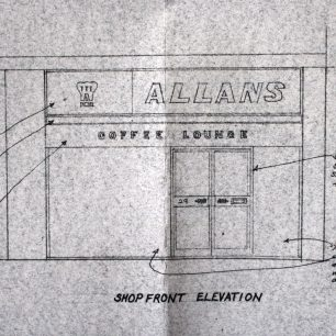 Architects proposed drawing for new shop front, 1972 | from FDC planning files