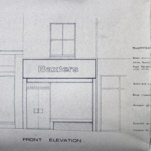 Architects proposed drawings, No 30 High Street, 1969 | from FDC planning files
