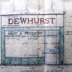 Architects proposed drawing for new shop front at No.32, 1969 | from FDC planning files