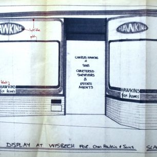 Architects drawing for proposed shop front, No.23, 1973 | from FDC planning files