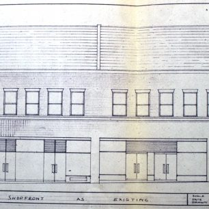 Architects drawing of existing elevation for 25-27, 1967 | from FDC planning files