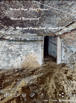 Cellars of the Rose and Crown Hotel from 3D survey