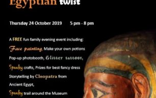 A FREE Spooky Museums at Night with an Egyptian Twist! Thursday 24th November, Wisbech & Fenland Museum, 5pm-8pm
