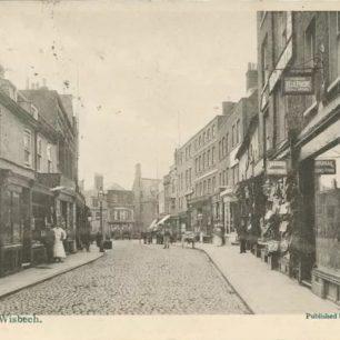 Postcard of Wisbech High St, c1905