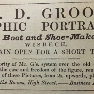 Advert for Grooms Photographic Portrait Rooms