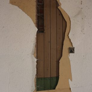 Wood panelling surviving behind plasterboard, 1st Floor, 13-17 High Street | Taleyna Fletcher