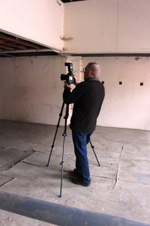 Roger Rawson photographing 1st floor interior | Taleyna Fletcher