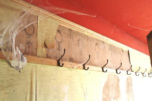 Original wallpaper and coat hooks, 2nd Flr, 13 High St | Taleyna Fletcher