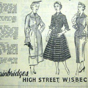 Bainbridges Ad, Wisbech Standard, 1956   Wisbech & Fenland Museum/Wisbech Standard