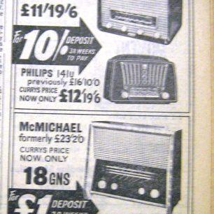 Currys Ad, Wisbech Standard, 1956   Wisbech & Fenland Museum / Wisbech Standard