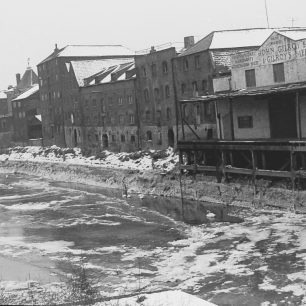 Warehouses on frozen river | Geoff Hastings