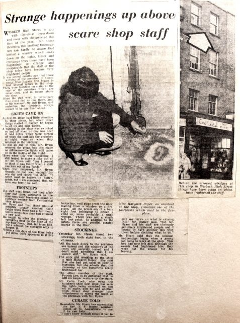 A ghost on Wisbech High Street..?