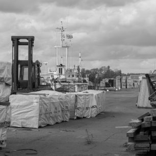 'SEG' waiting for the cranes to come and unload its cargo of timber | Dean Rocker