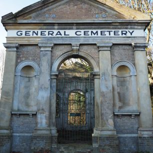 1. Symmetry shot of old cemetary building | Diana Mutimer