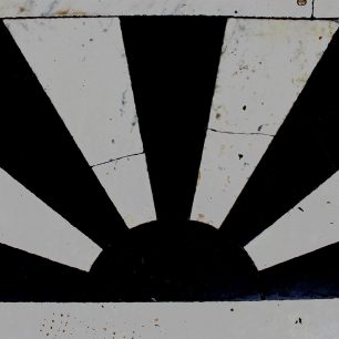 1. Symmetry - 1930s Sunburst motif on threshold at Franks, Wisbech Market Place | Taleyna Fletcher