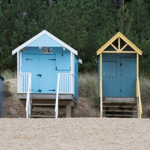 Horizontal pano – Beach Huts at Wells, Norfolk | Gary Garford