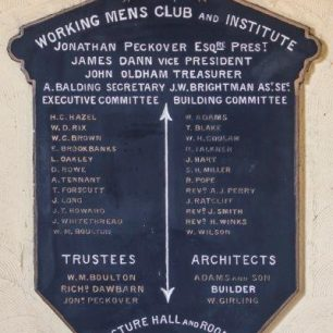 Lecture hall plaque | Mike Forrest
