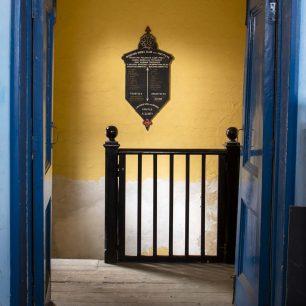 The Plaque through the Blue Door | Sarah Thorpe