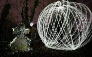 Photographic Workshop on Light Painting at the Wisbech General Cemetery