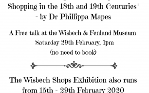 """Wisbech Shops"" - A Free Exhibition and Talk, February 2020"