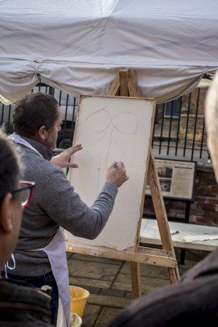 Philip Gaches demonstrating decorative plastering skills | Taleyna Fletcher