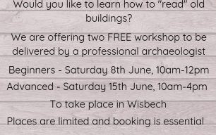 FREE Historic Building Recording Workshops - Book Now!