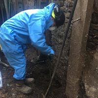 Ground investigations in basement at 24 High St | Taleyna Fletcher