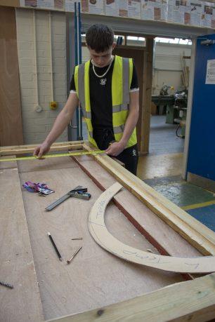 Danny working on Temp Door 2   Taleyna Fletcher