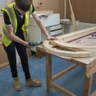 College of West Anglia Students Begin Chapel Restoration Work - Starting with Door Repairs