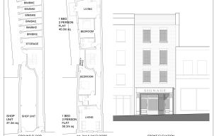 "Updated Plans for No 24 High St - ""The Gap"""