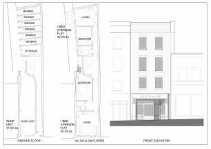 Architects proposal for 24 High Street