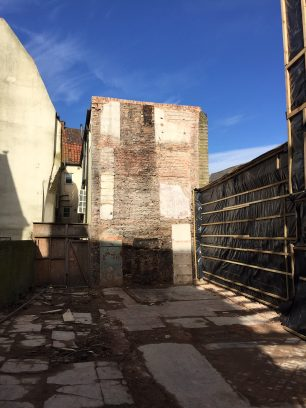 Rear of 24 High Street following demolition | Taleyna Fletcher