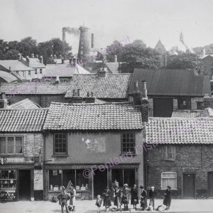 View from top of Fire Station looking across Horsefair towards Leach's Mill, Lynn Road