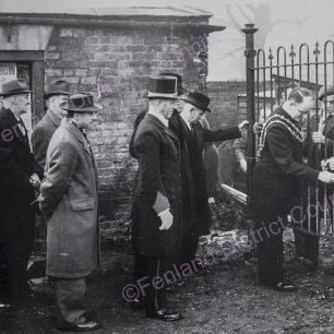 Removing railings to give access to site - Nov 1952
