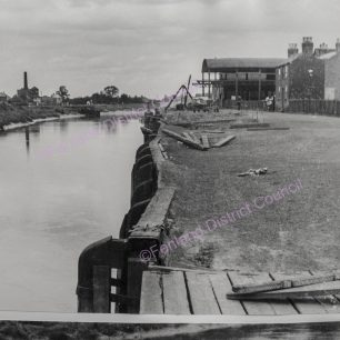 English's timber sheds and quay before piling and decking