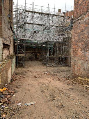 Rear of 11-12 High St following demolition | Taleyna Fletcher