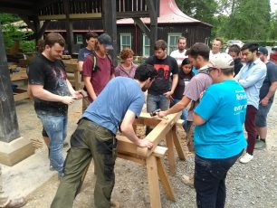 Owen timber framing course Princes Foundation Summer School 2019 | Lincoln Conservation