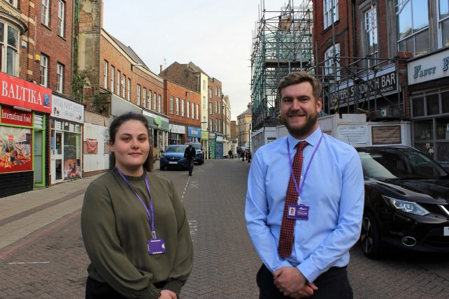 Photograph of Matt and Jaime-Lea from Fenland District Council